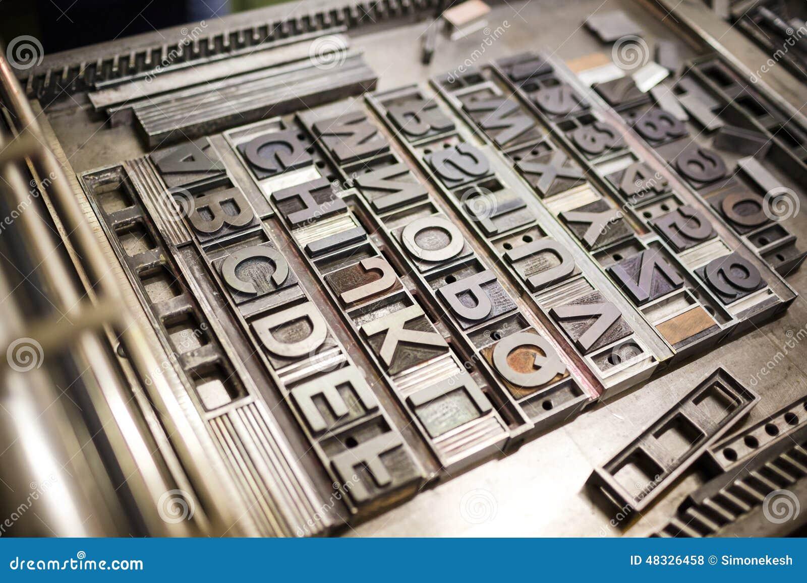 image gallery typographie machine