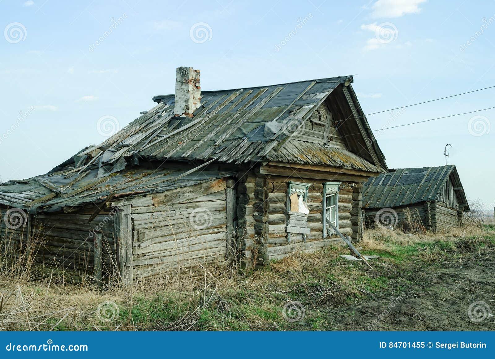Vieille maison abandonn e dans tyumen russie image stock for Exterieur vieille maison