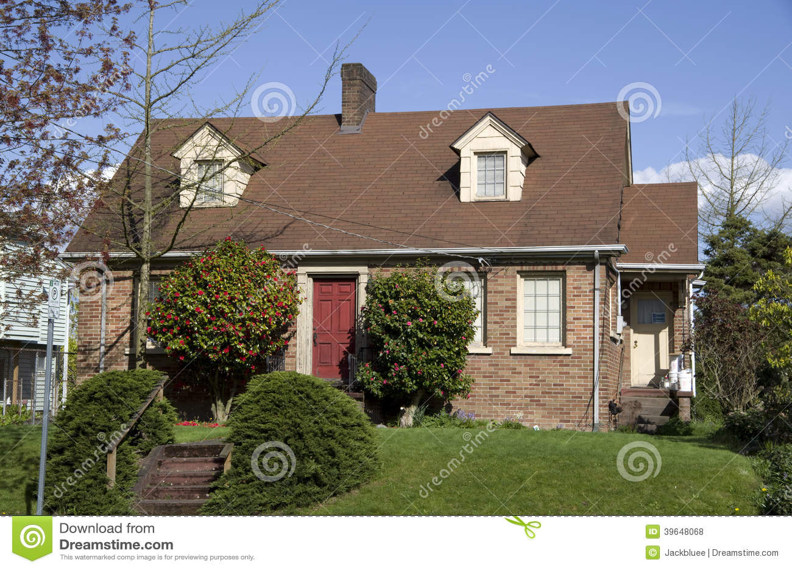 Vieille maison américaine de brique
