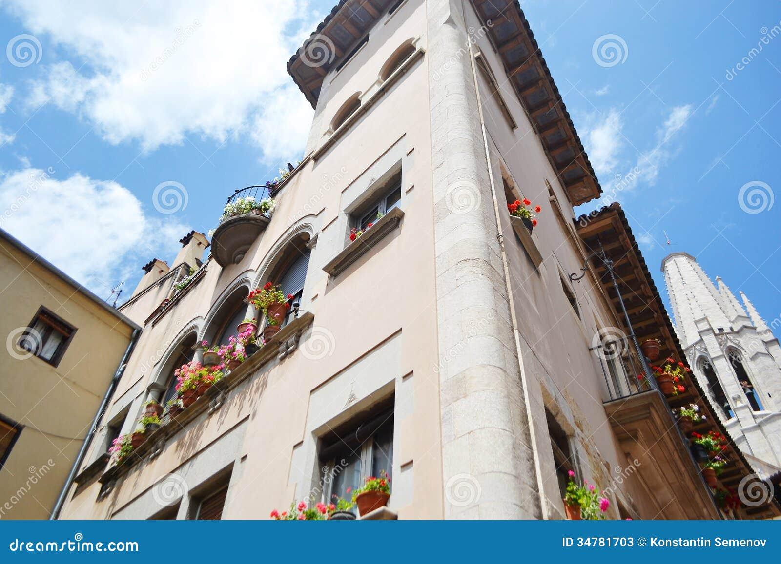 Vieille maison au centre de Gérone
