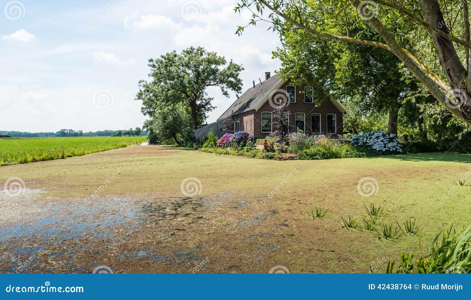 Vieille maison de ferme dans un paysage n erlandais de polder for Exterieur vieille maison
