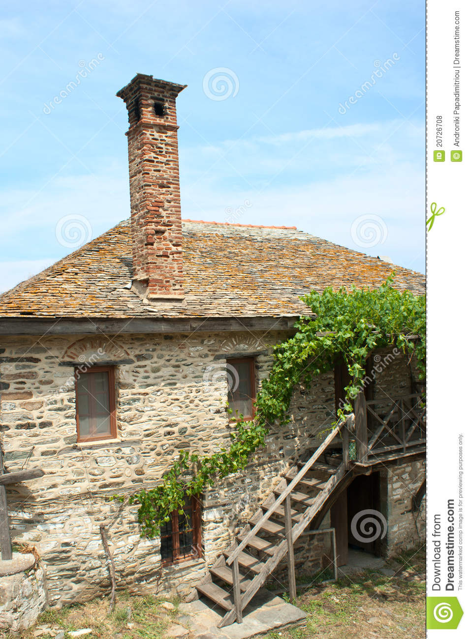 Vieille maison en pierre photo stock image du ferme for Maison pierre