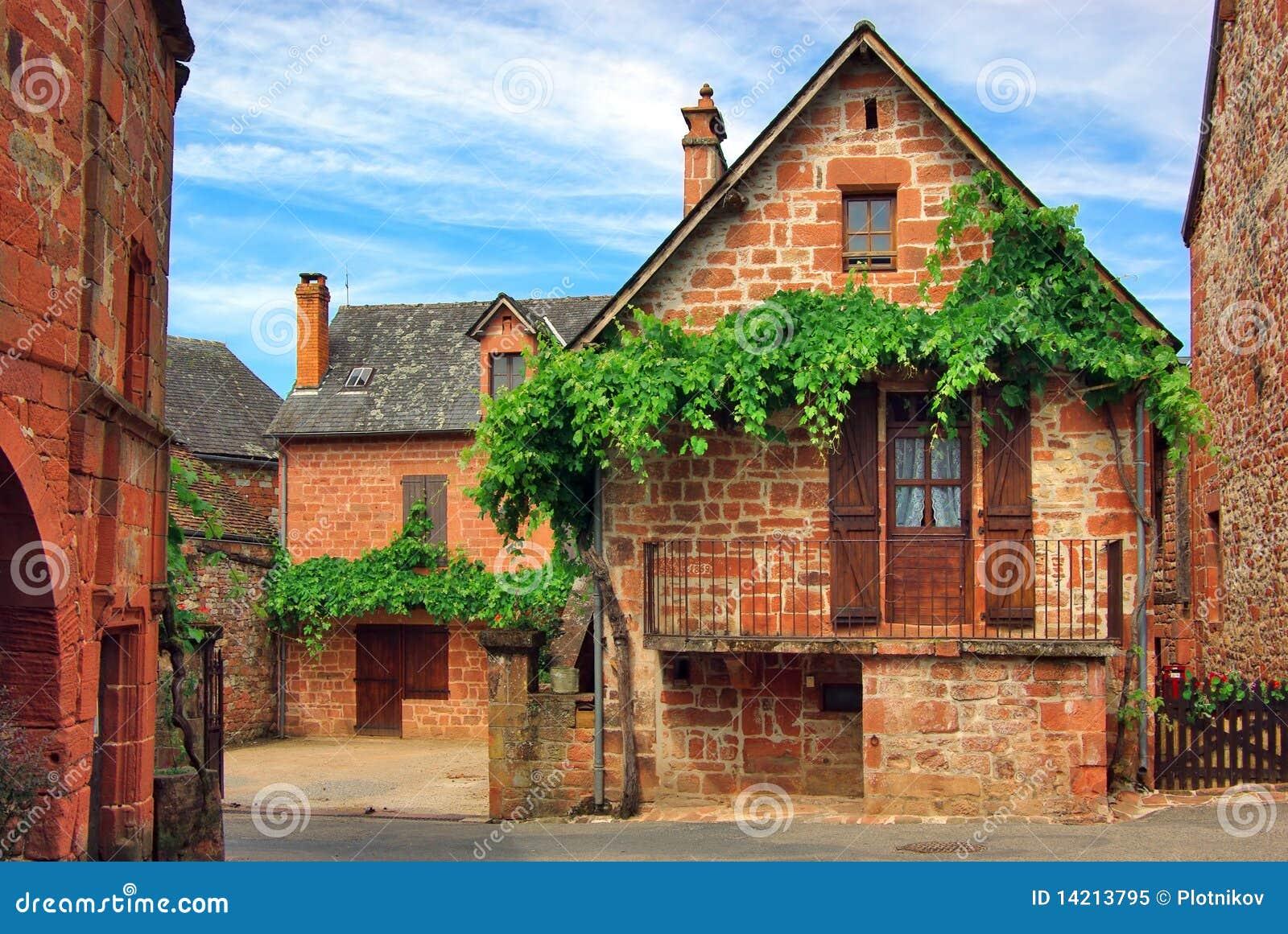 Vieille maison fran aise traditionnelle fard joues de la de collonges photo libre de droits - Maison de star francaise ...