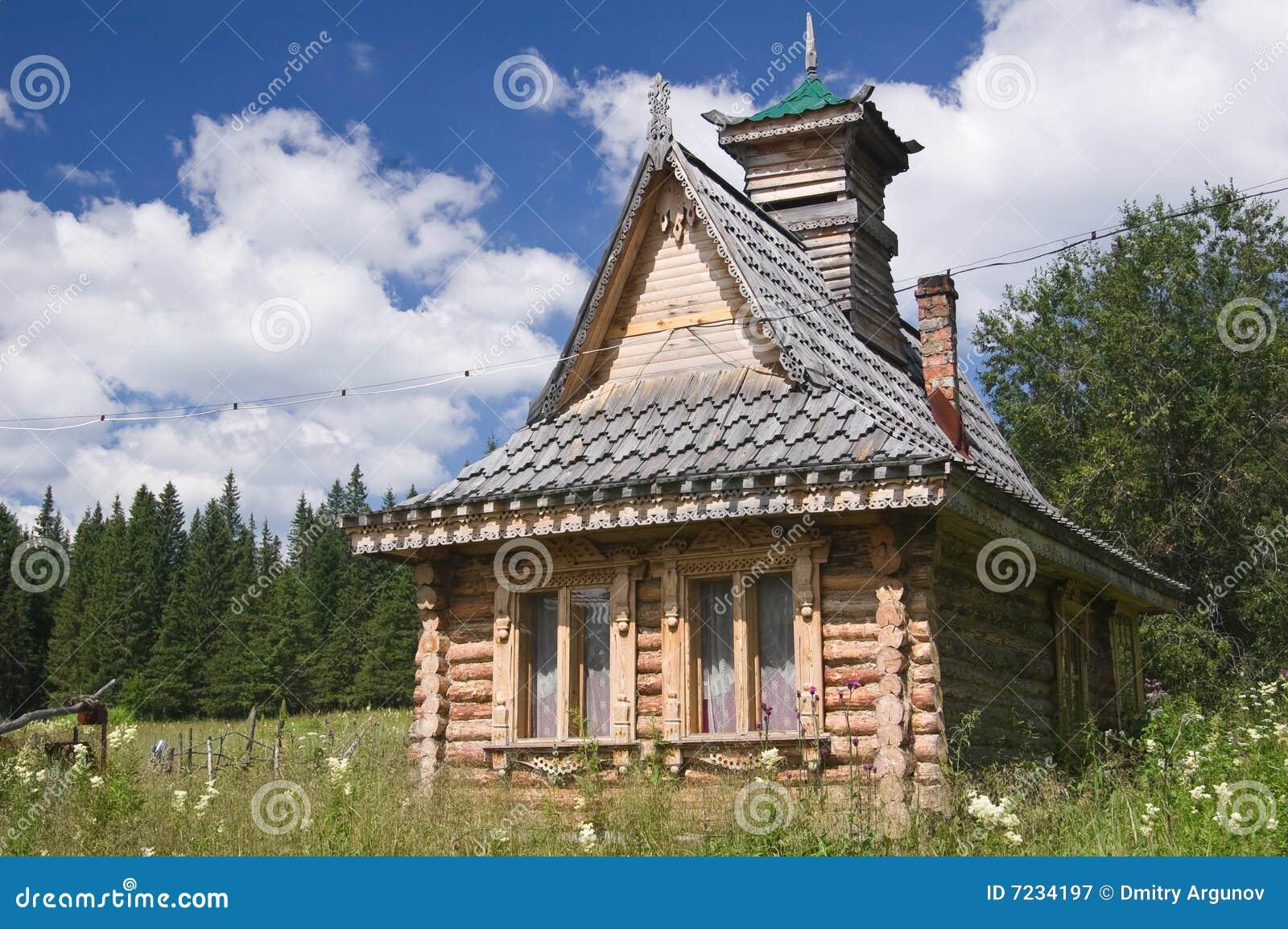 vieille maison russe image stock image du chambre brun 7234197. Black Bedroom Furniture Sets. Home Design Ideas