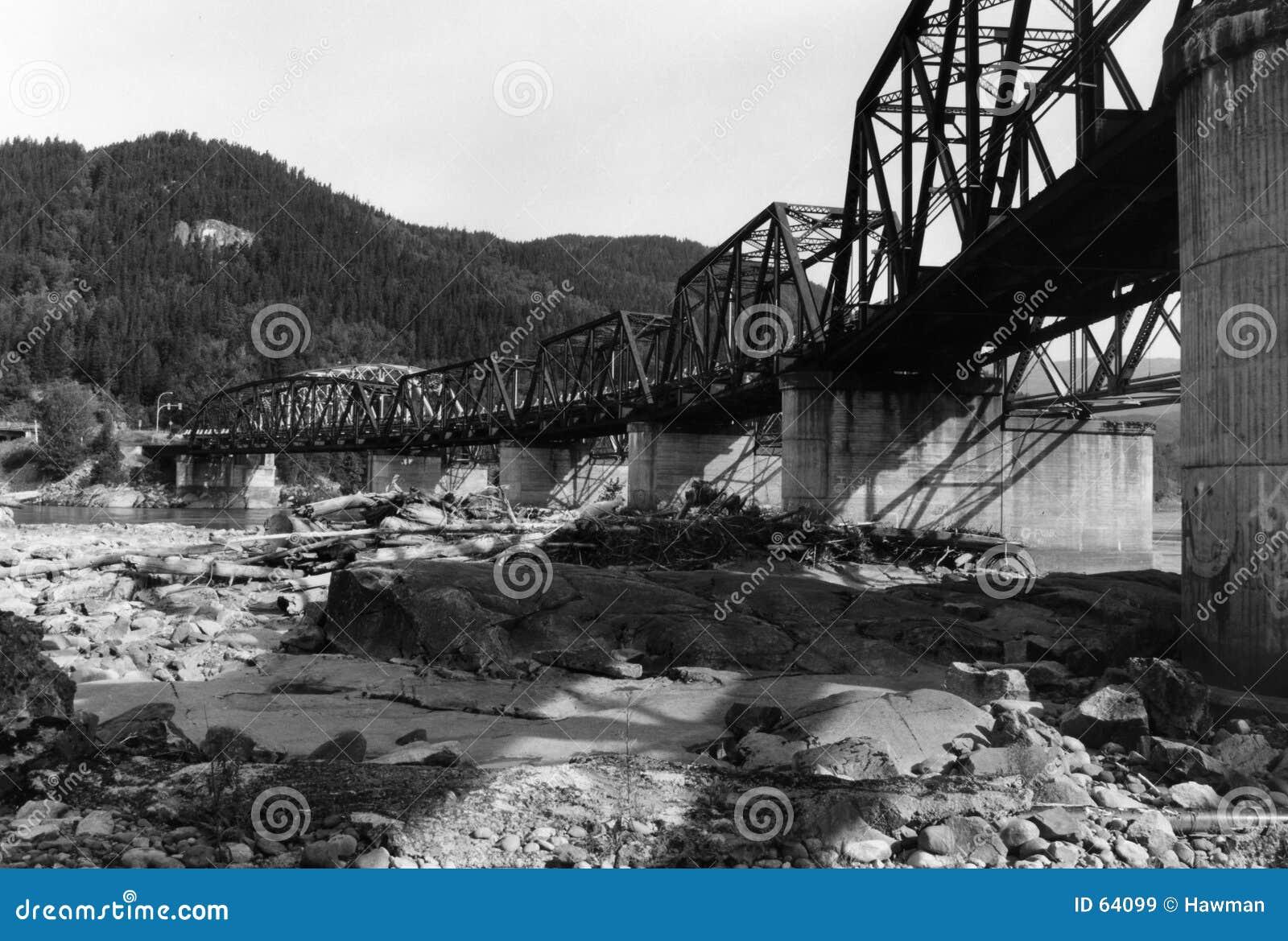 Download Vieille passerelle image stock. Image du piste, railway - 64099
