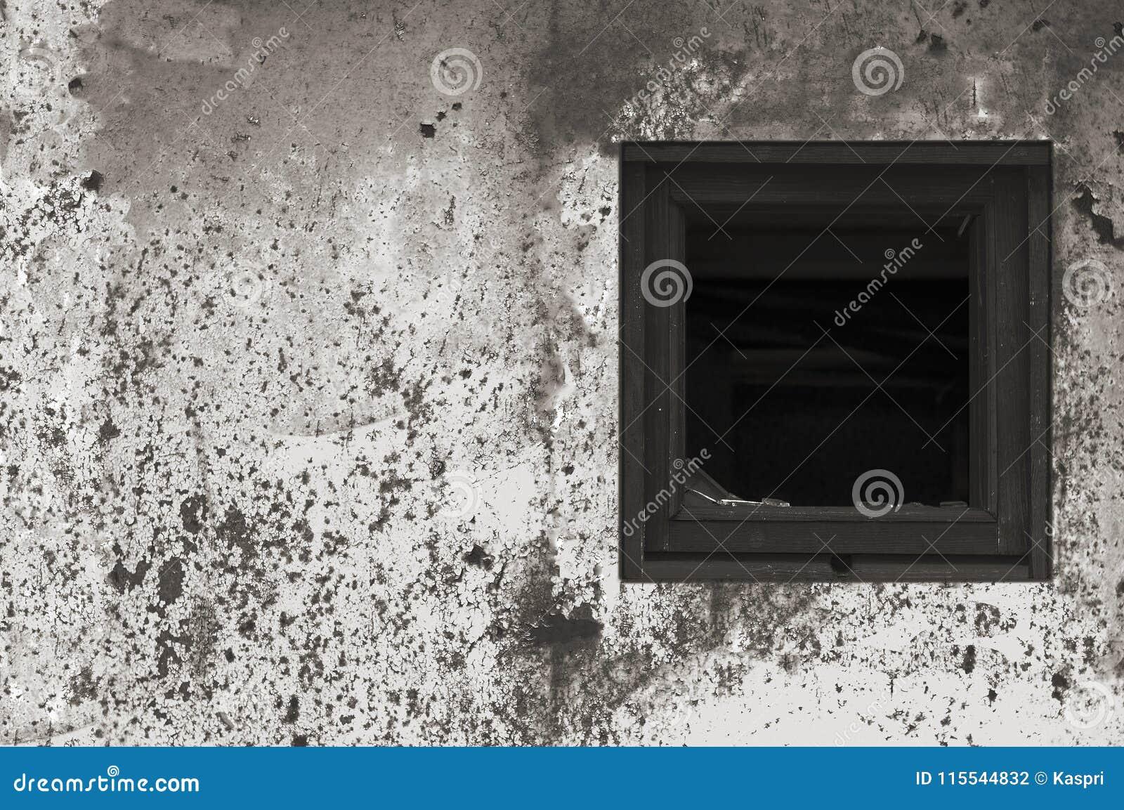 Vieille Peinture Blanche Noire Grise Rouillée âgée De Mur De Hutte ...