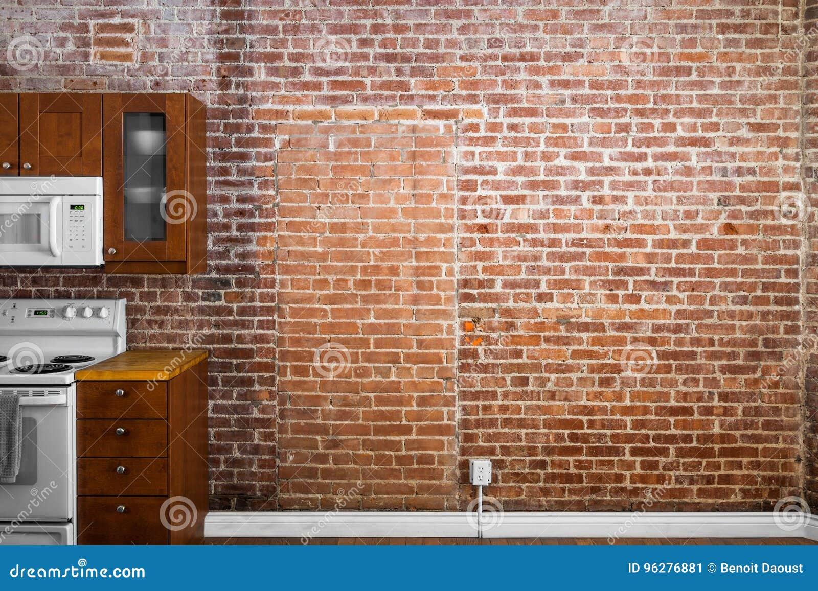 Vieille Perspective Plate Industrielle De Mur De Briques