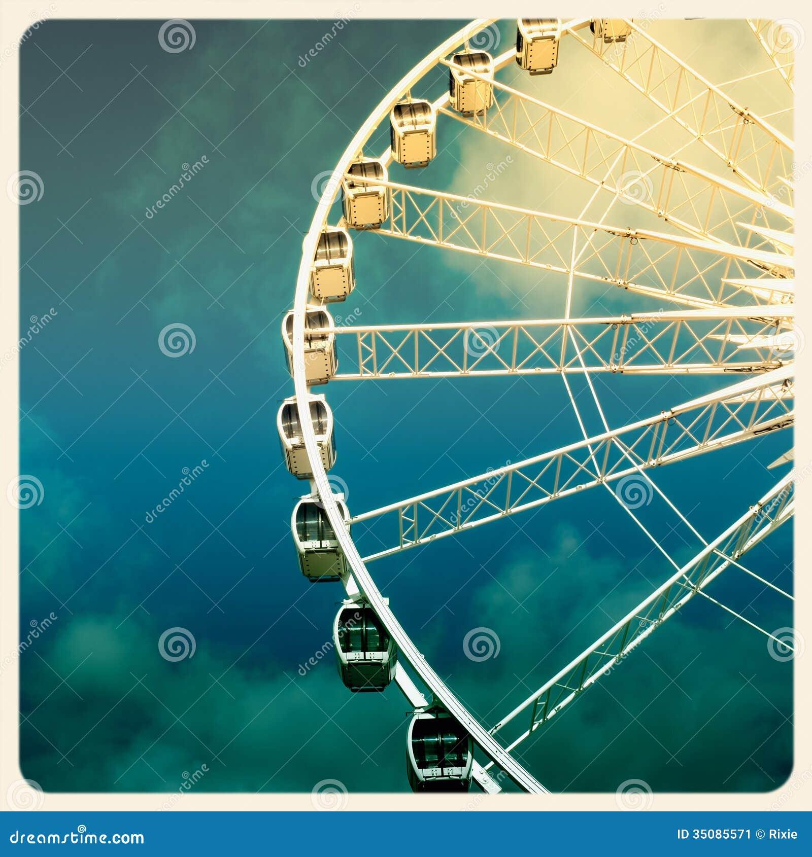 Vieille photo de grande roue