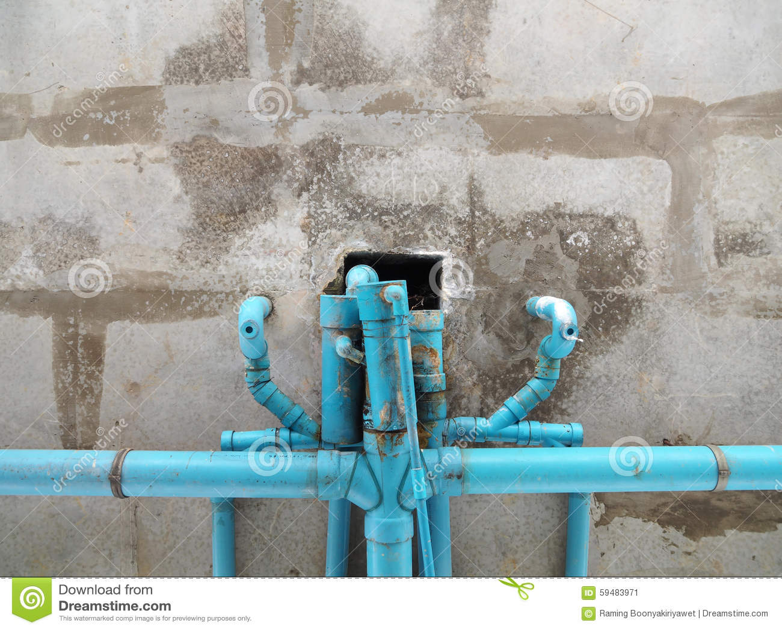Vieille pipe bleue