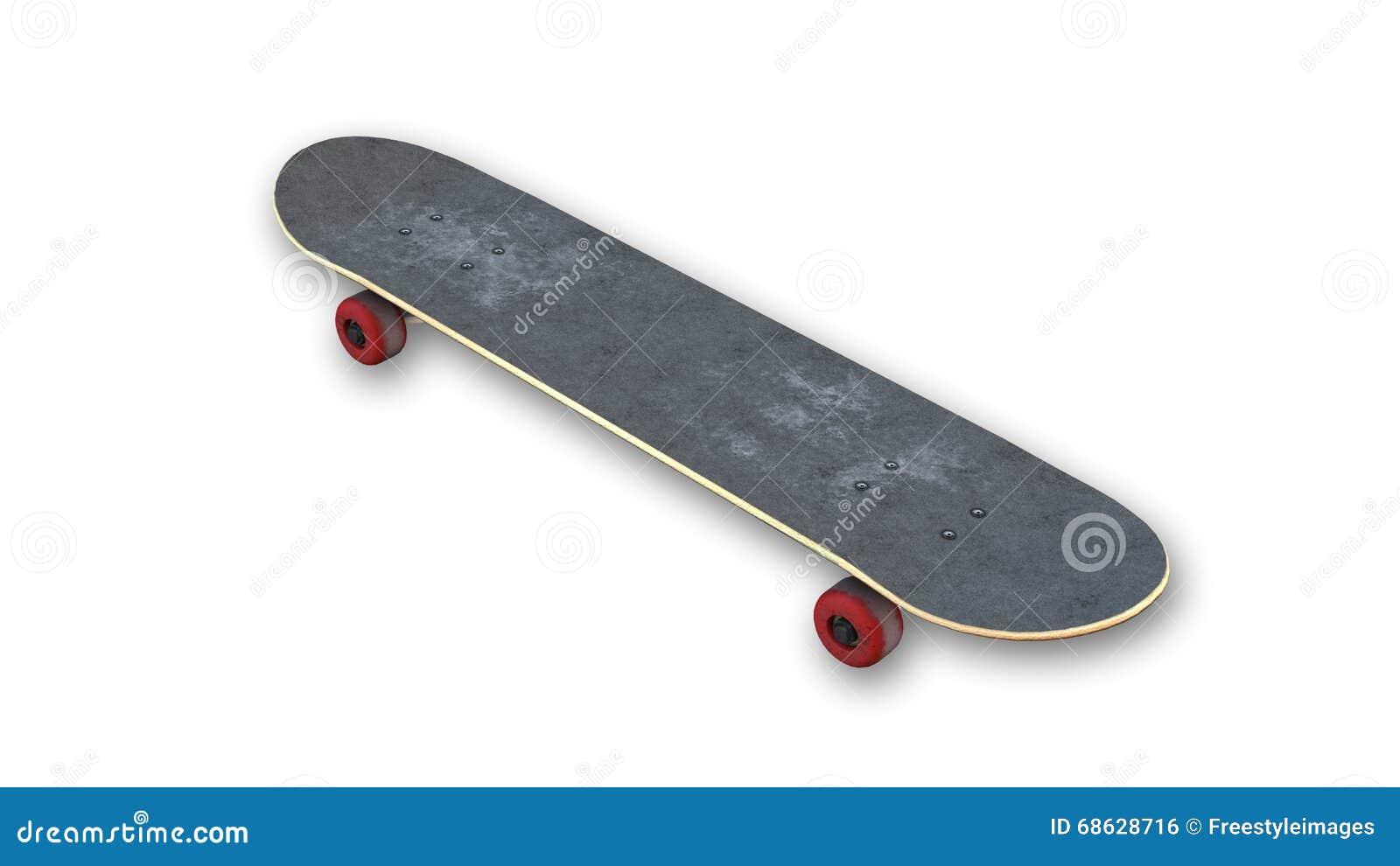 Vieille planche roulettes avec les roues rouges article - Planche a roulette ...