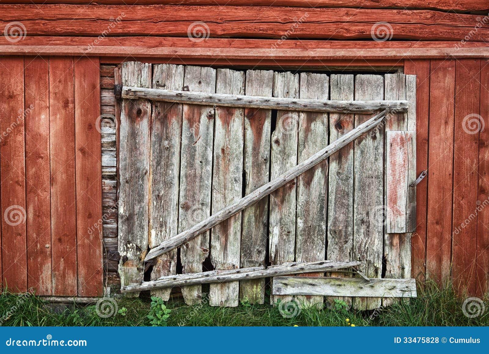 Vieille porte de grange en bois photos libres de droits image 33475828 - Vieille porte en bois ...