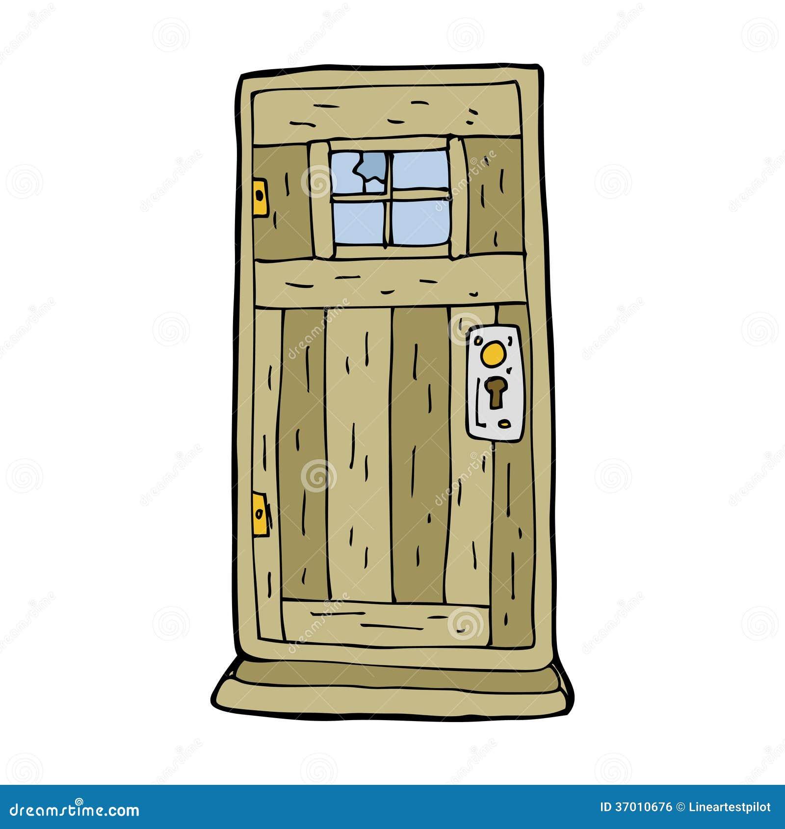 Vieille porte en bois de bande dessin e image libre de for Vieille porte en bois