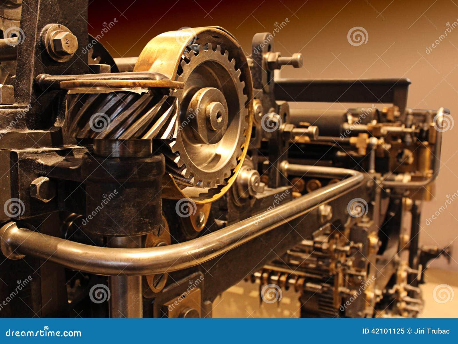 Vieille presse typographique