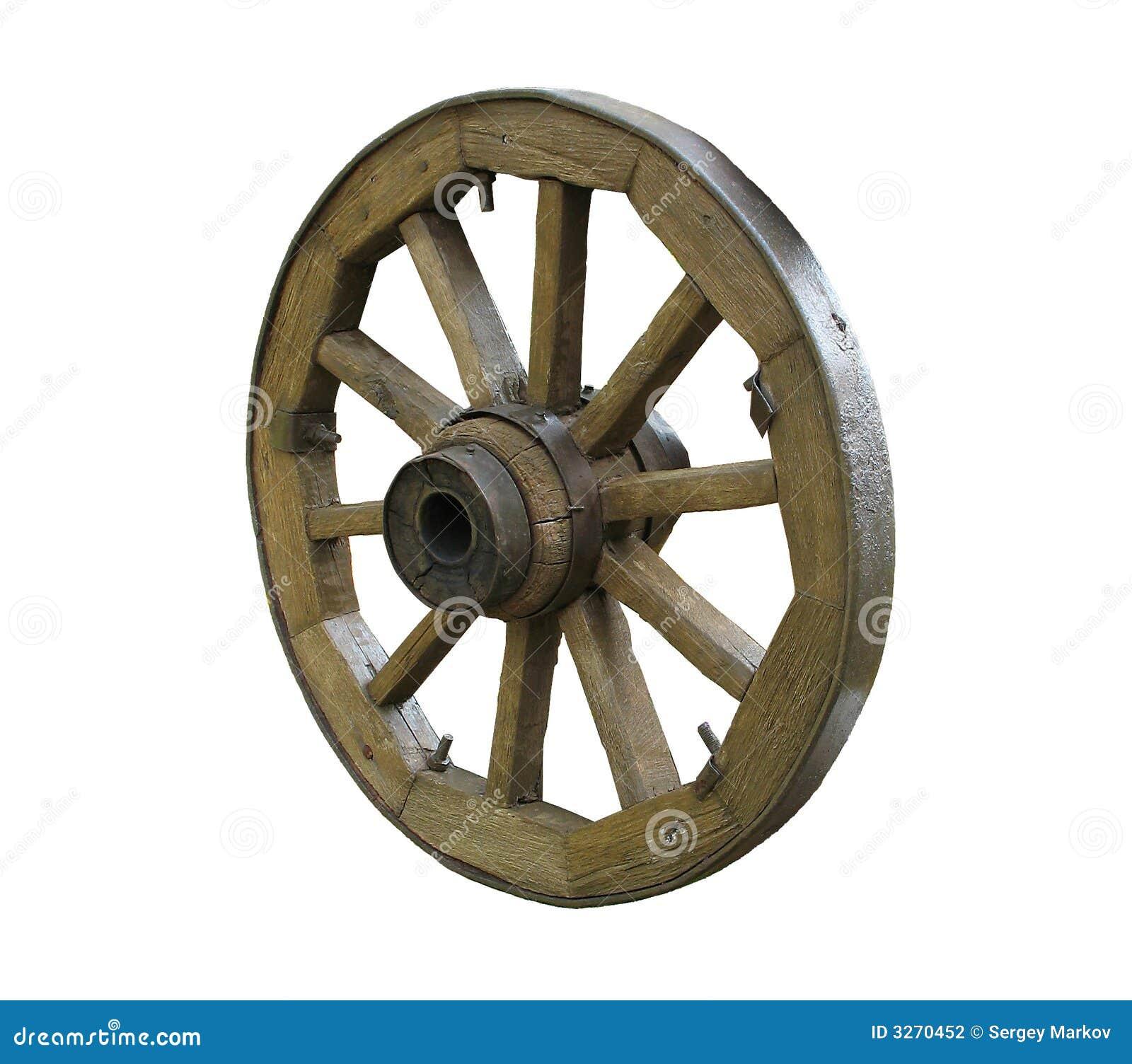 vieille roue en bois photographie stock image 3270452. Black Bedroom Furniture Sets. Home Design Ideas