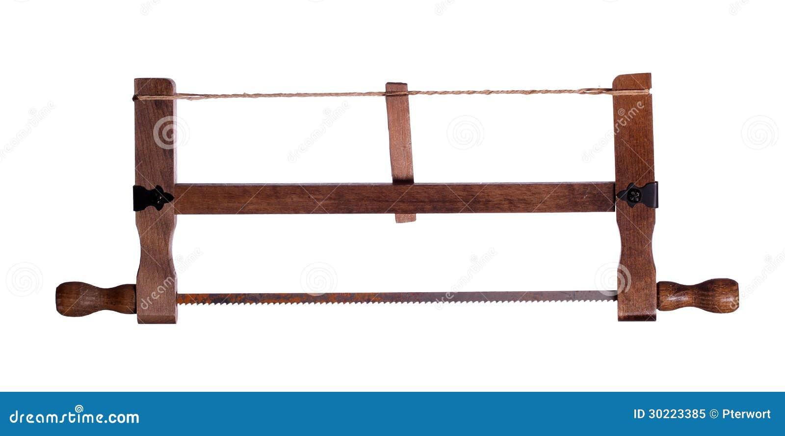vieille scie en bois image stock image du scie. Black Bedroom Furniture Sets. Home Design Ideas