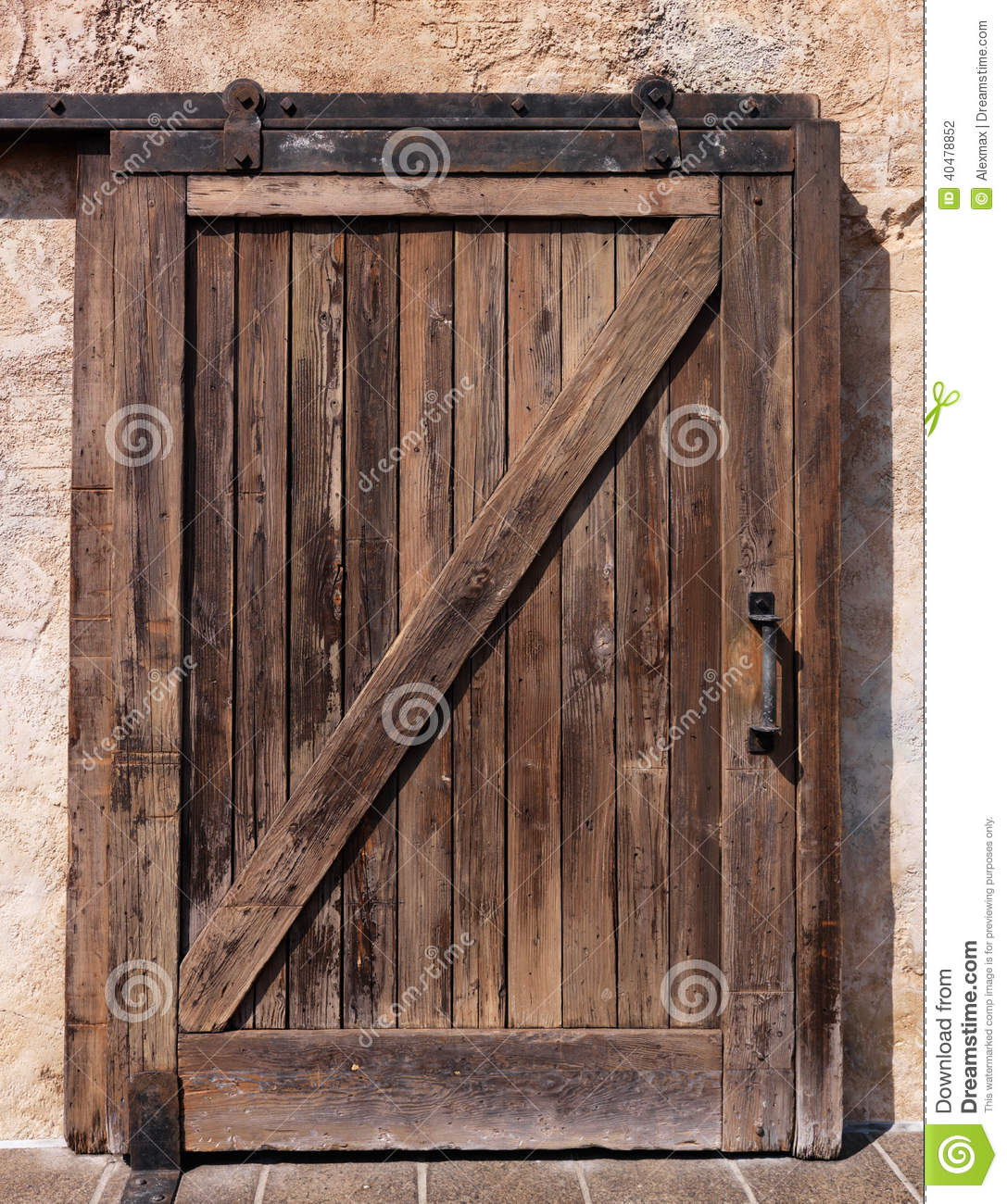 Vieille Texture En Bois Coulissante De Porte Photo Stock