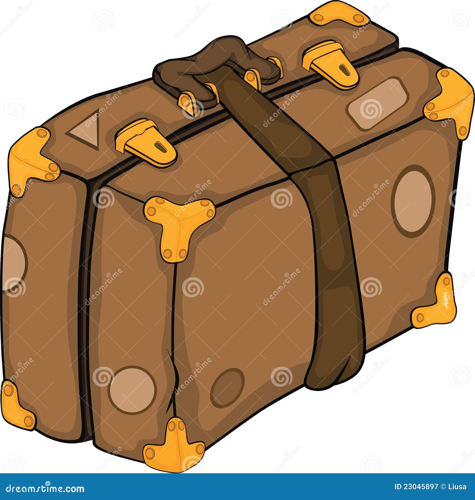 Vieille valise dessin anim photographie stock libre de - Dessin de valise ...