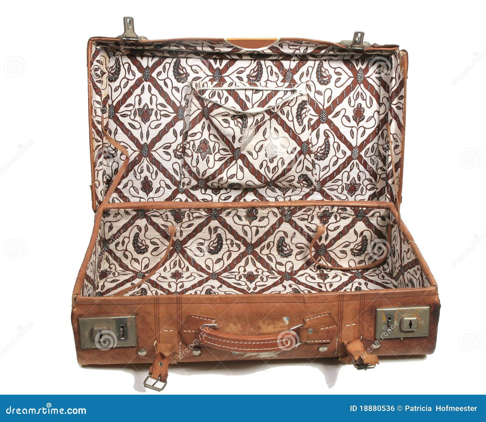vieille valise en cuir image libre de droits image 18880536. Black Bedroom Furniture Sets. Home Design Ideas