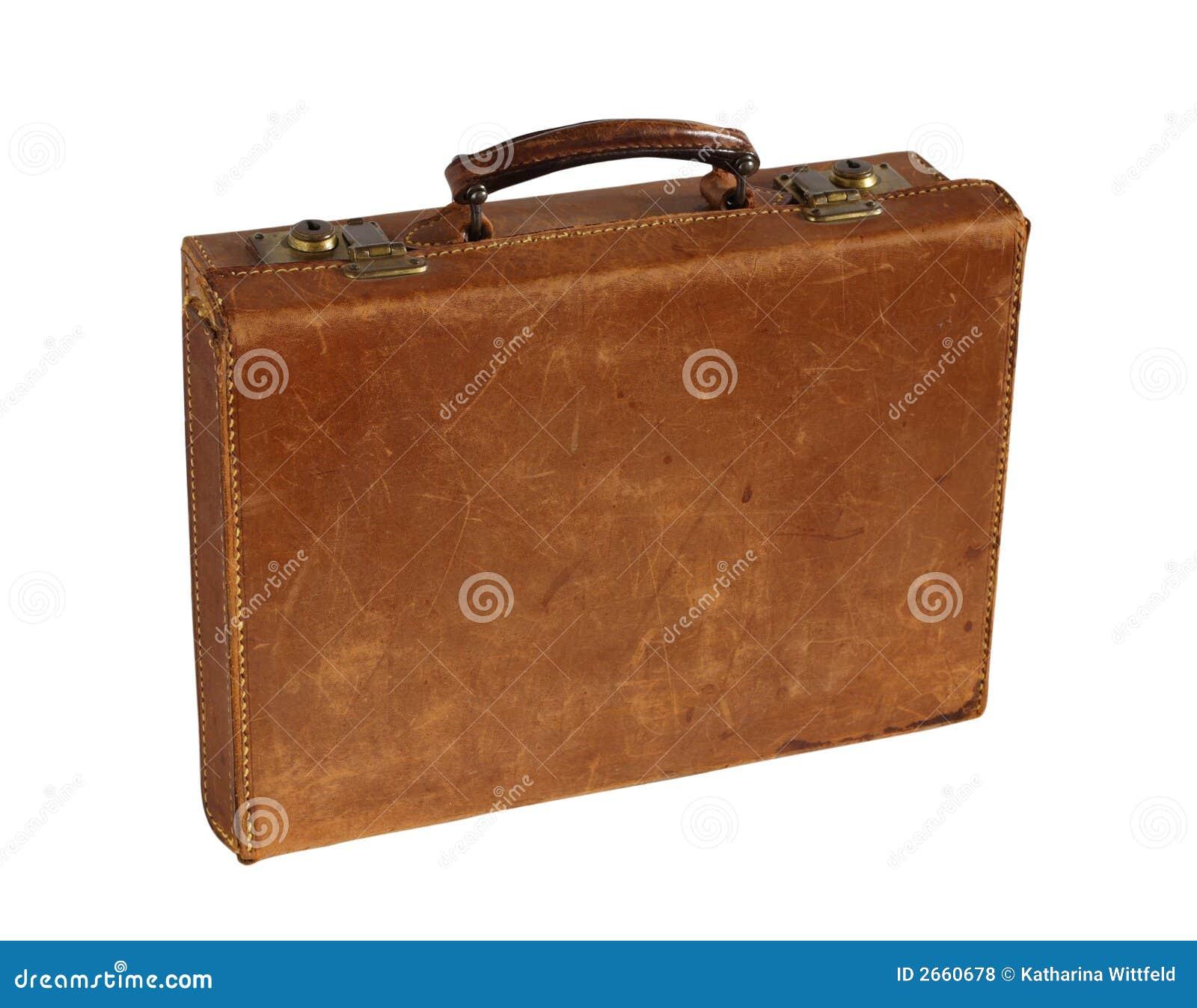 vieille valise en cuir photos libres de droits image 2660678. Black Bedroom Furniture Sets. Home Design Ideas
