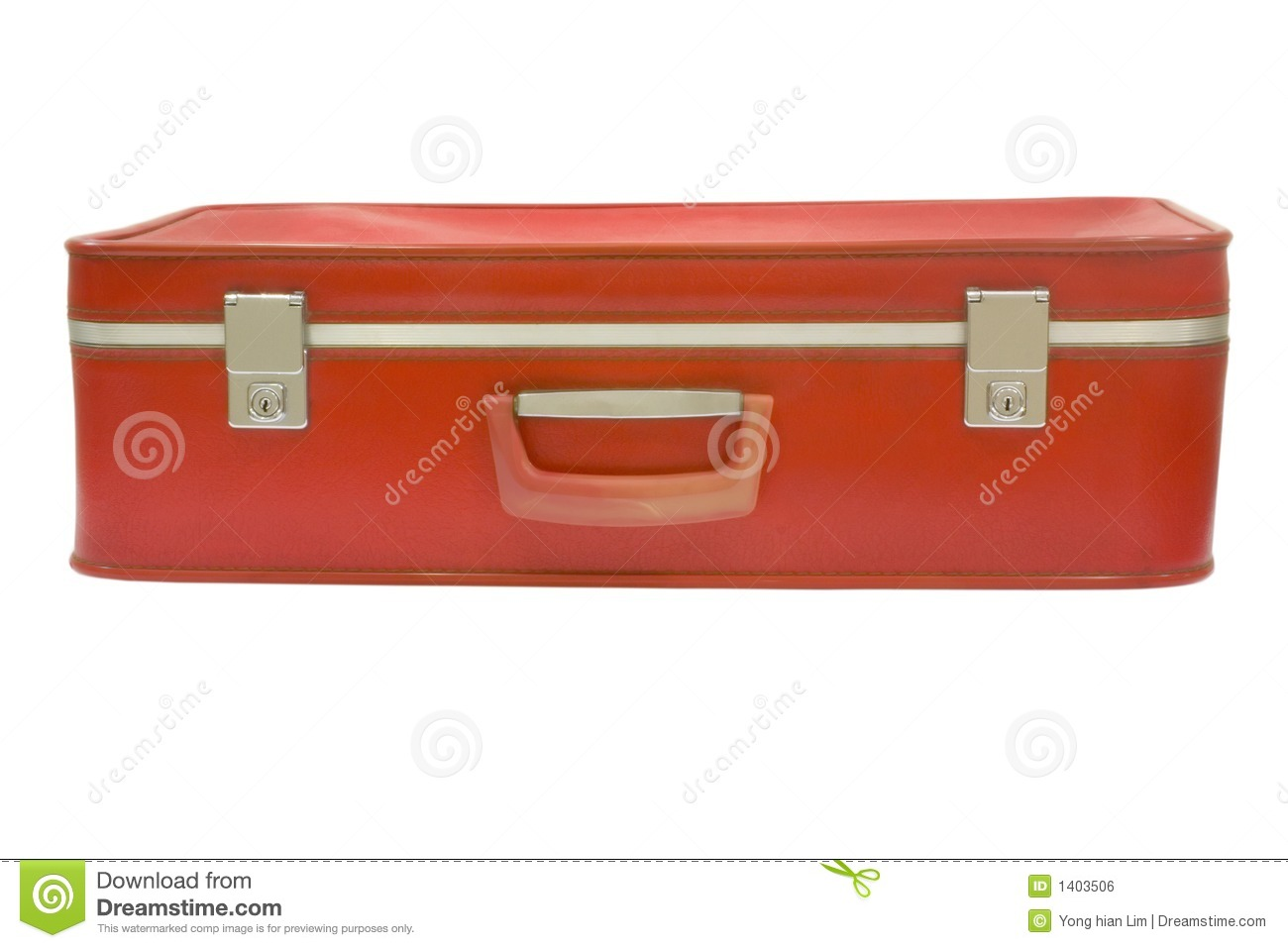 Vieille valise rouge