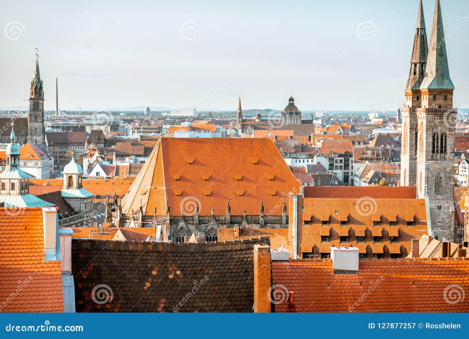 Vieille ville dans la ville de Nurnberg, Allemagne