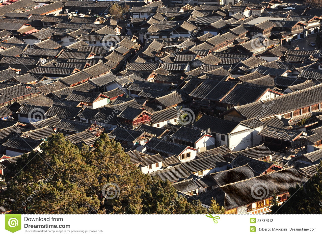 Vieille ville de lijiang yunnan chine photographie stock for Architecture chinoise