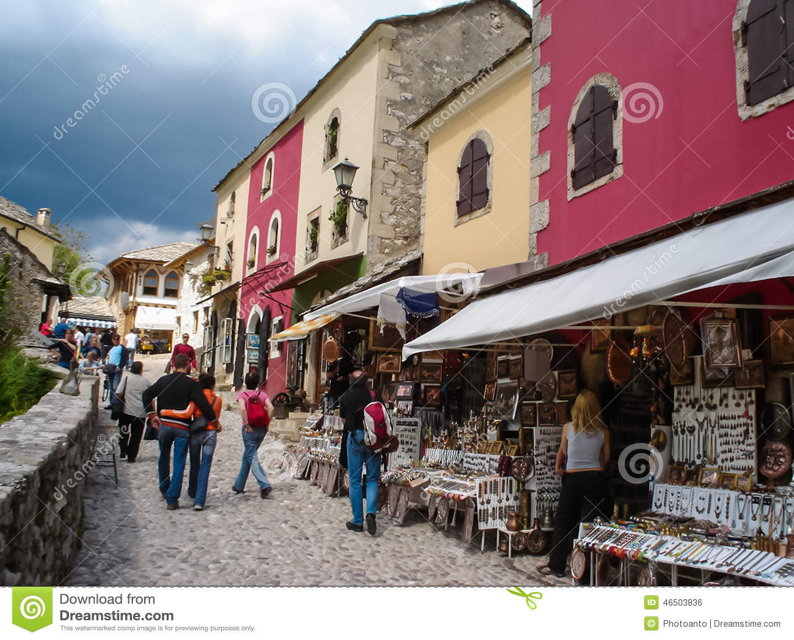 Ville Panoramique De La Vieille Ville De Mostar
