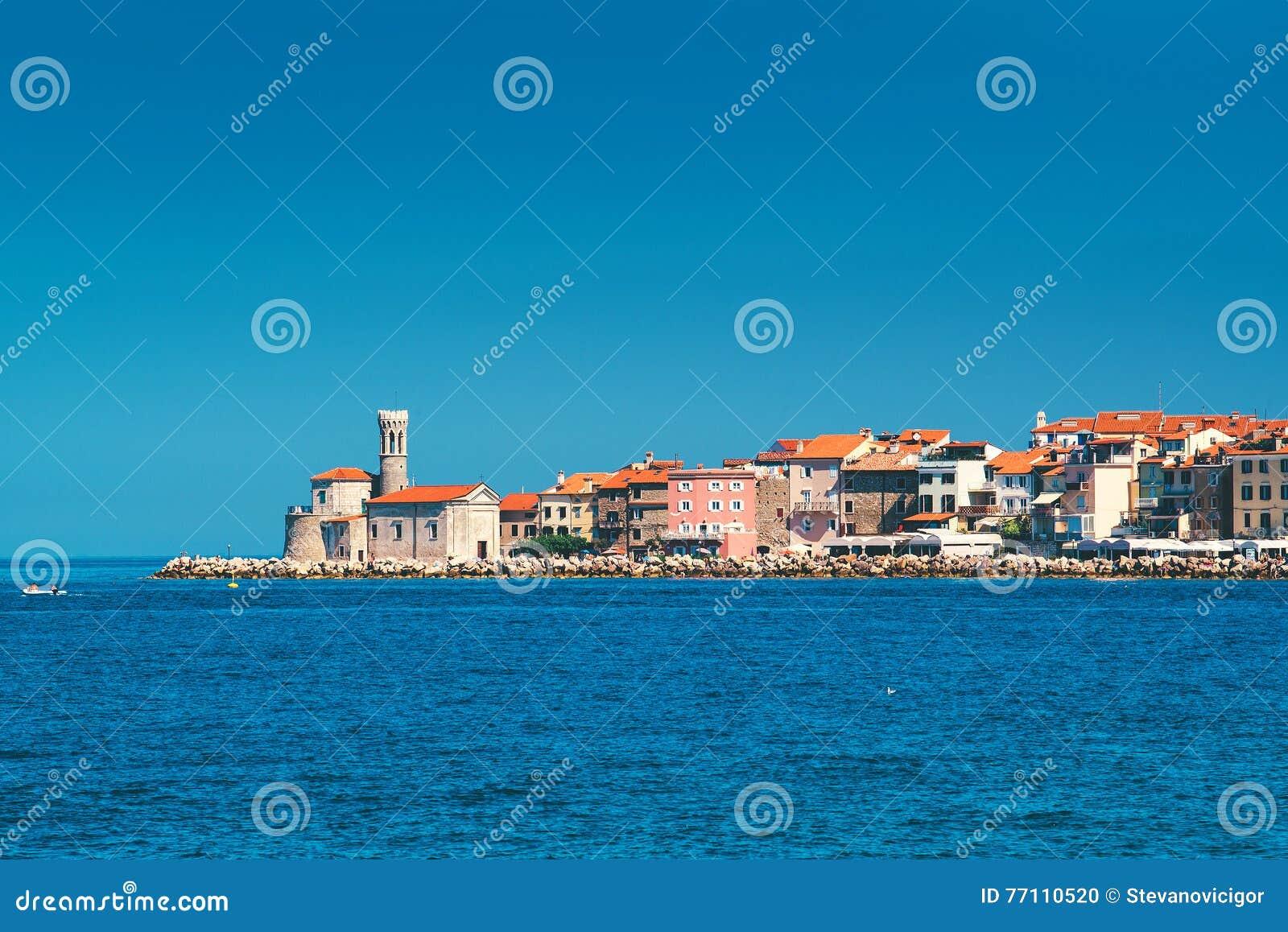 Vieille ville Piran sur la côte de l Adriatique de Slovène