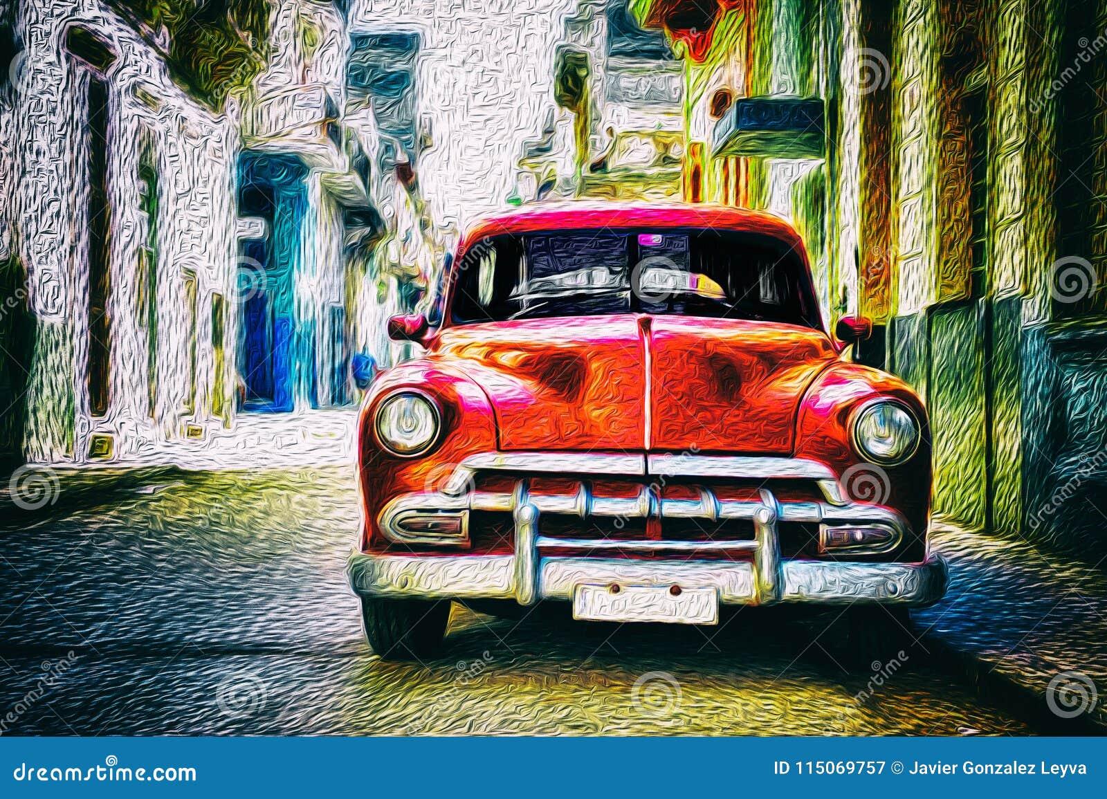 Vieille voiture classique dans Habana