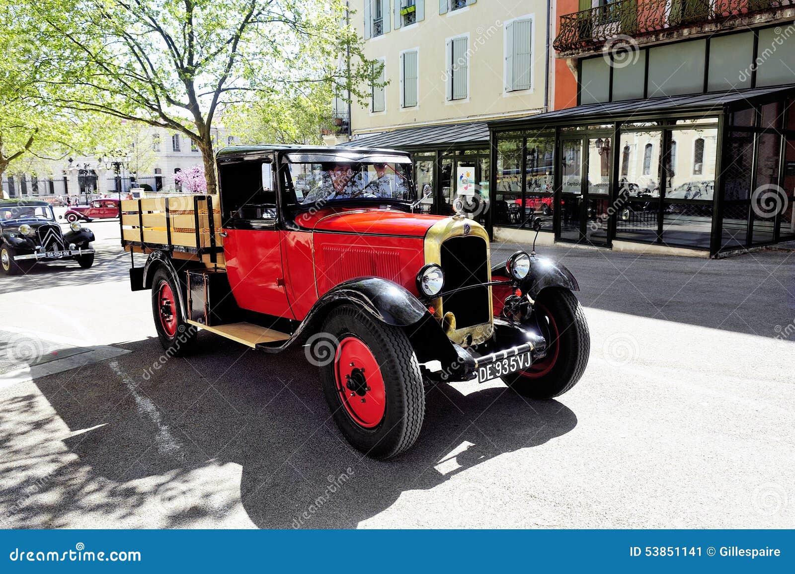 vieille voiture de citroen des ann es 1920 photo ditorial image du type v hicule 53851141. Black Bedroom Furniture Sets. Home Design Ideas