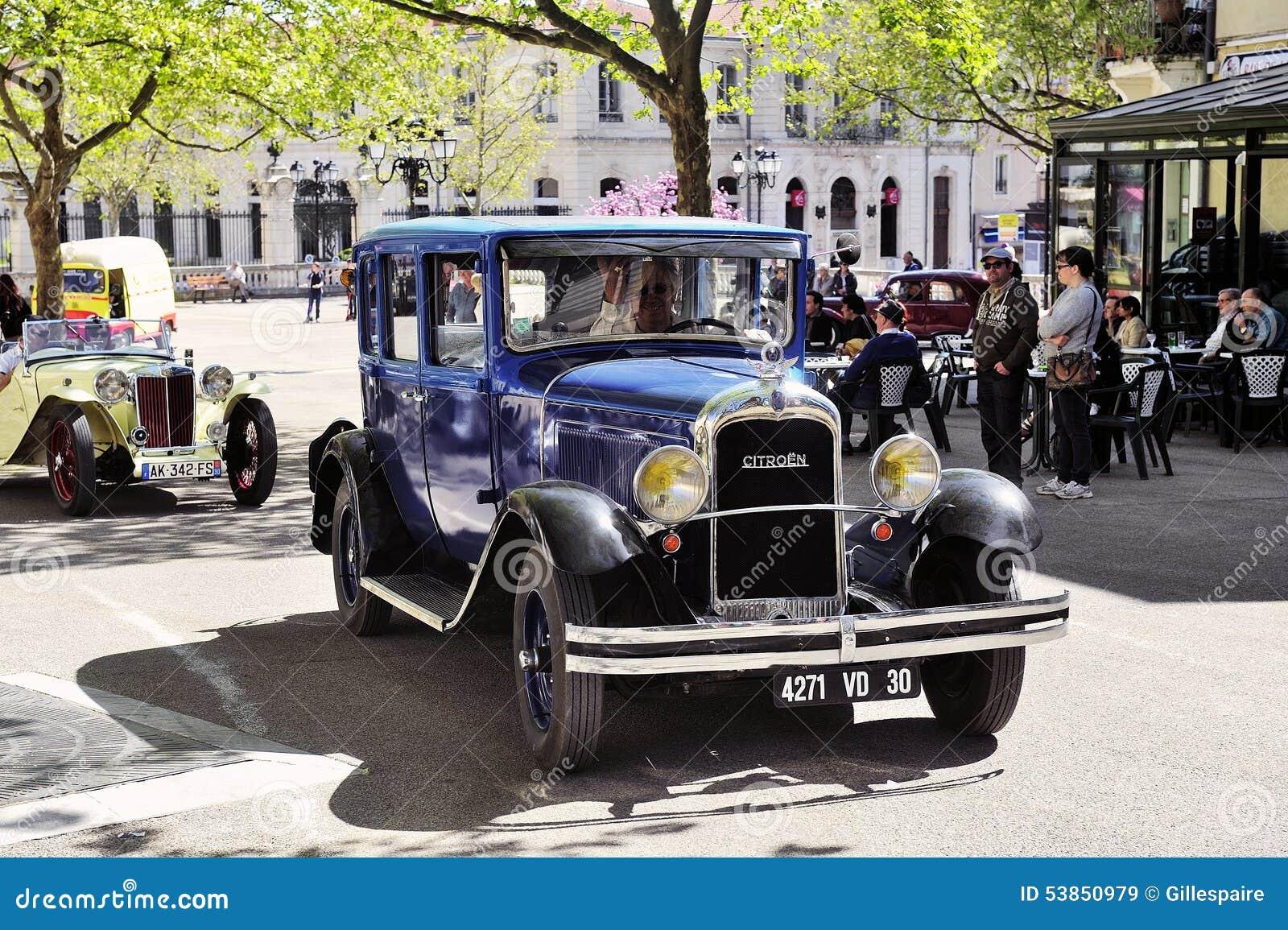 vieille voiture de citroen des ann es 1920 image stock ditorial image 53850979. Black Bedroom Furniture Sets. Home Design Ideas