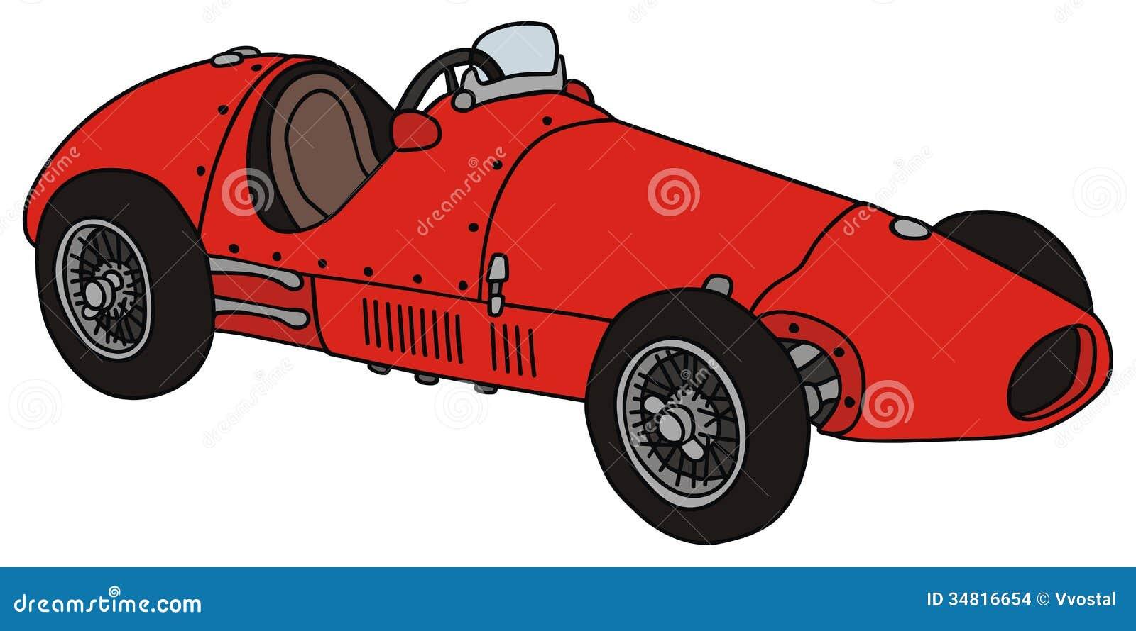Vieille voiture de course images stock image 34816654 - Dessin vieille voiture ...