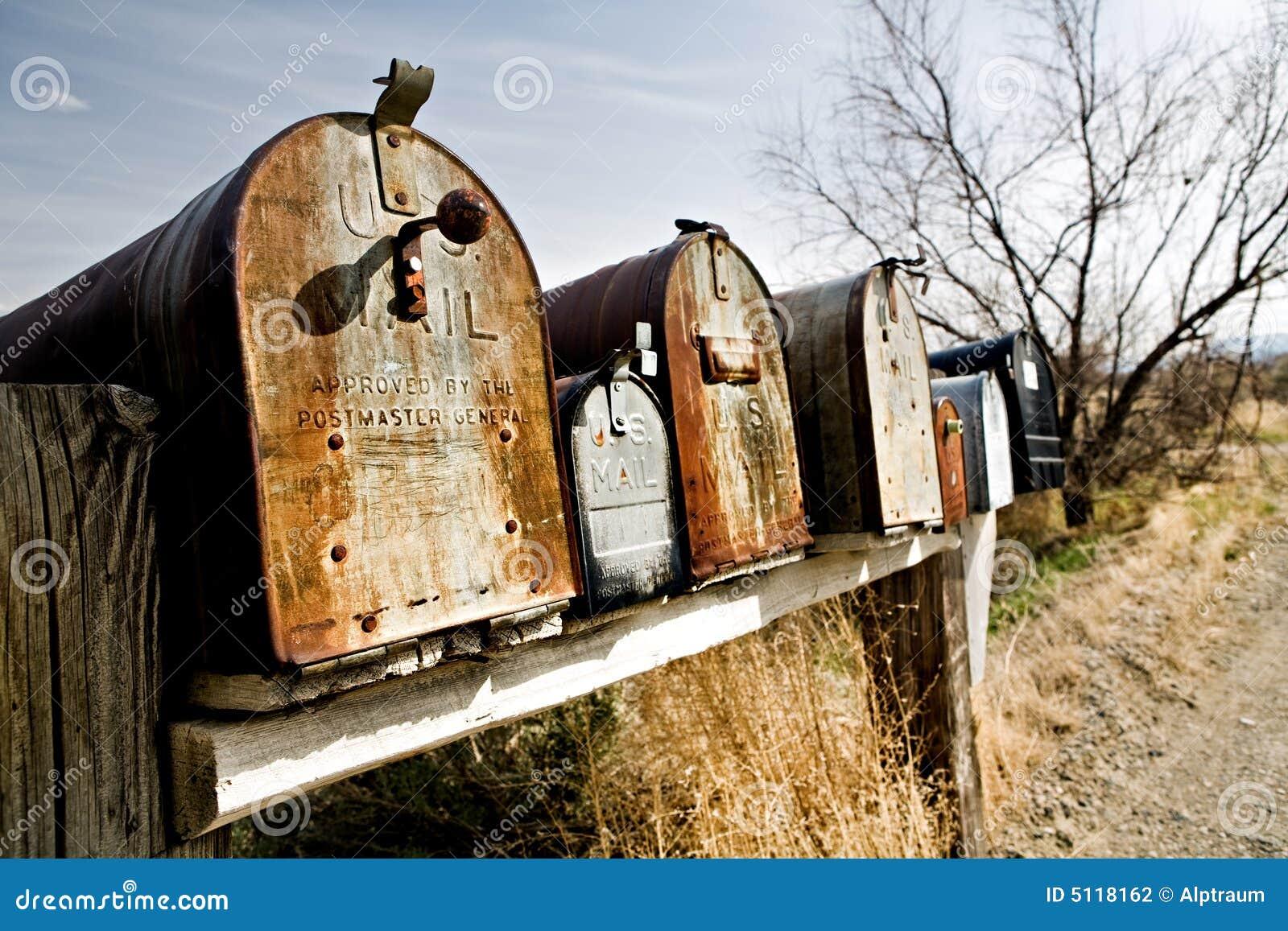 vieilles bo tes aux lettres dans midwest etats unis photographie stock image 5118162. Black Bedroom Furniture Sets. Home Design Ideas