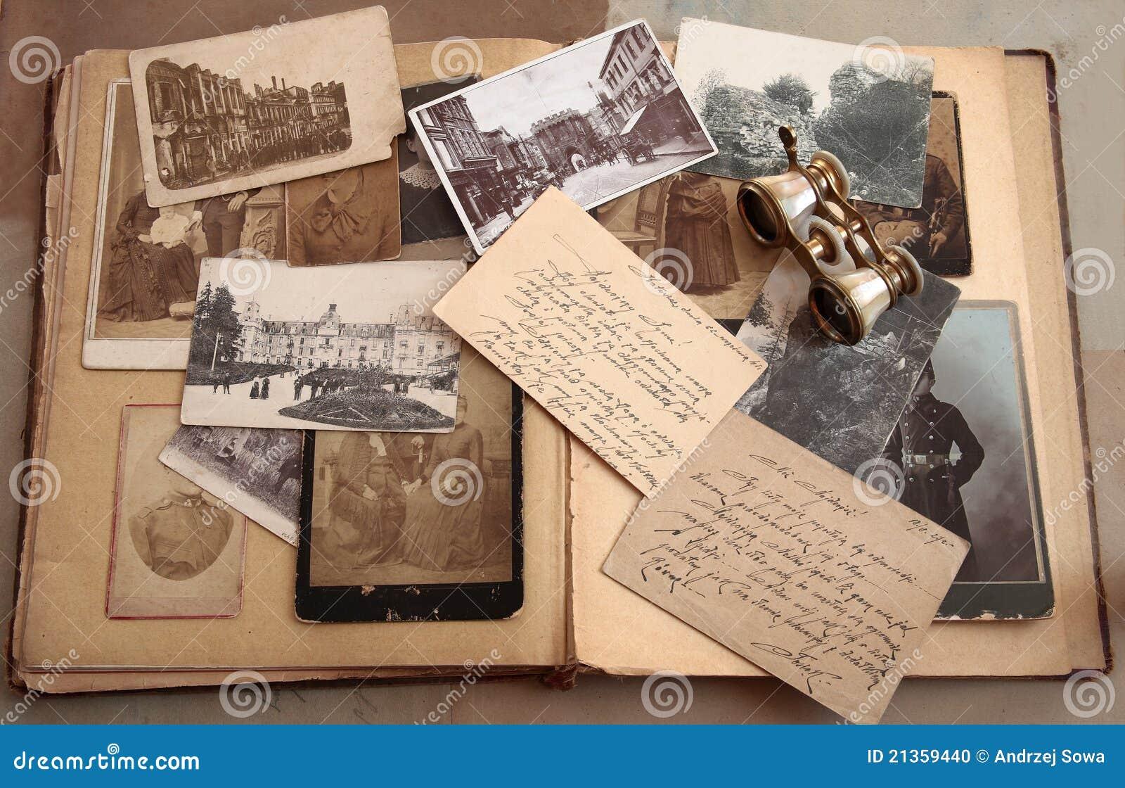Vieilles cartes postales, photos et correspondance