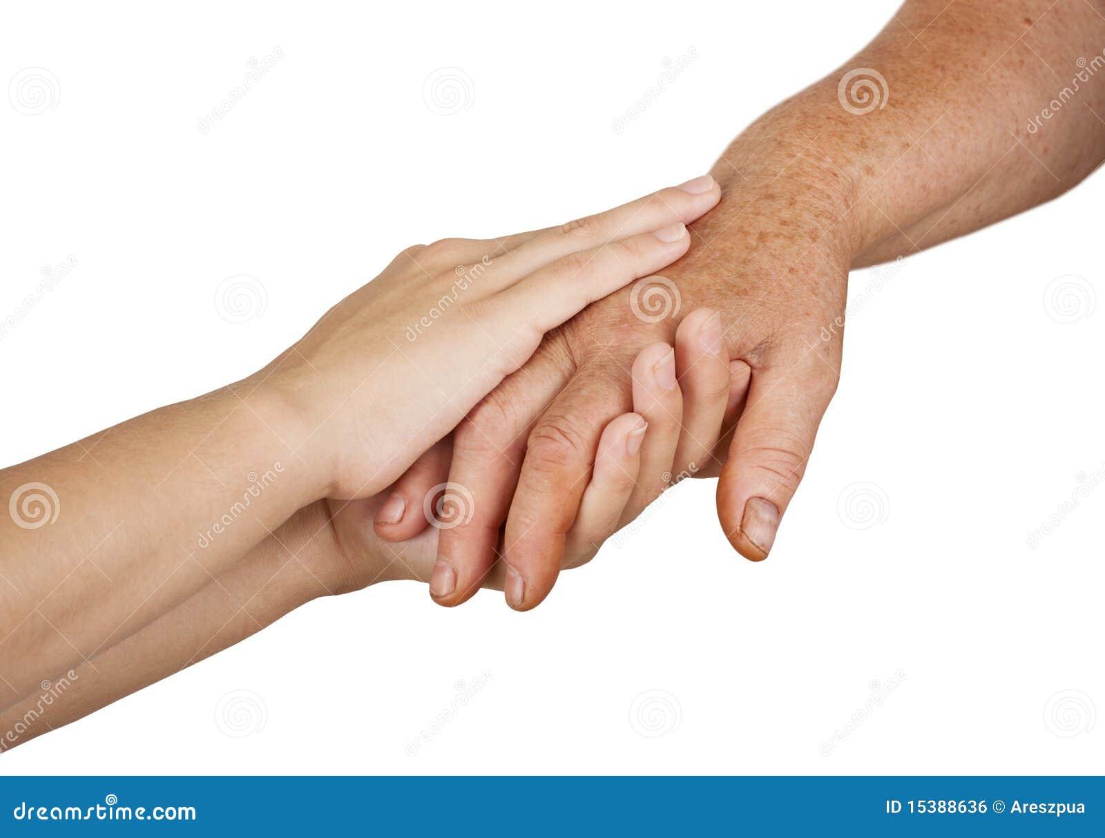 Vieilles et jeunes mains
