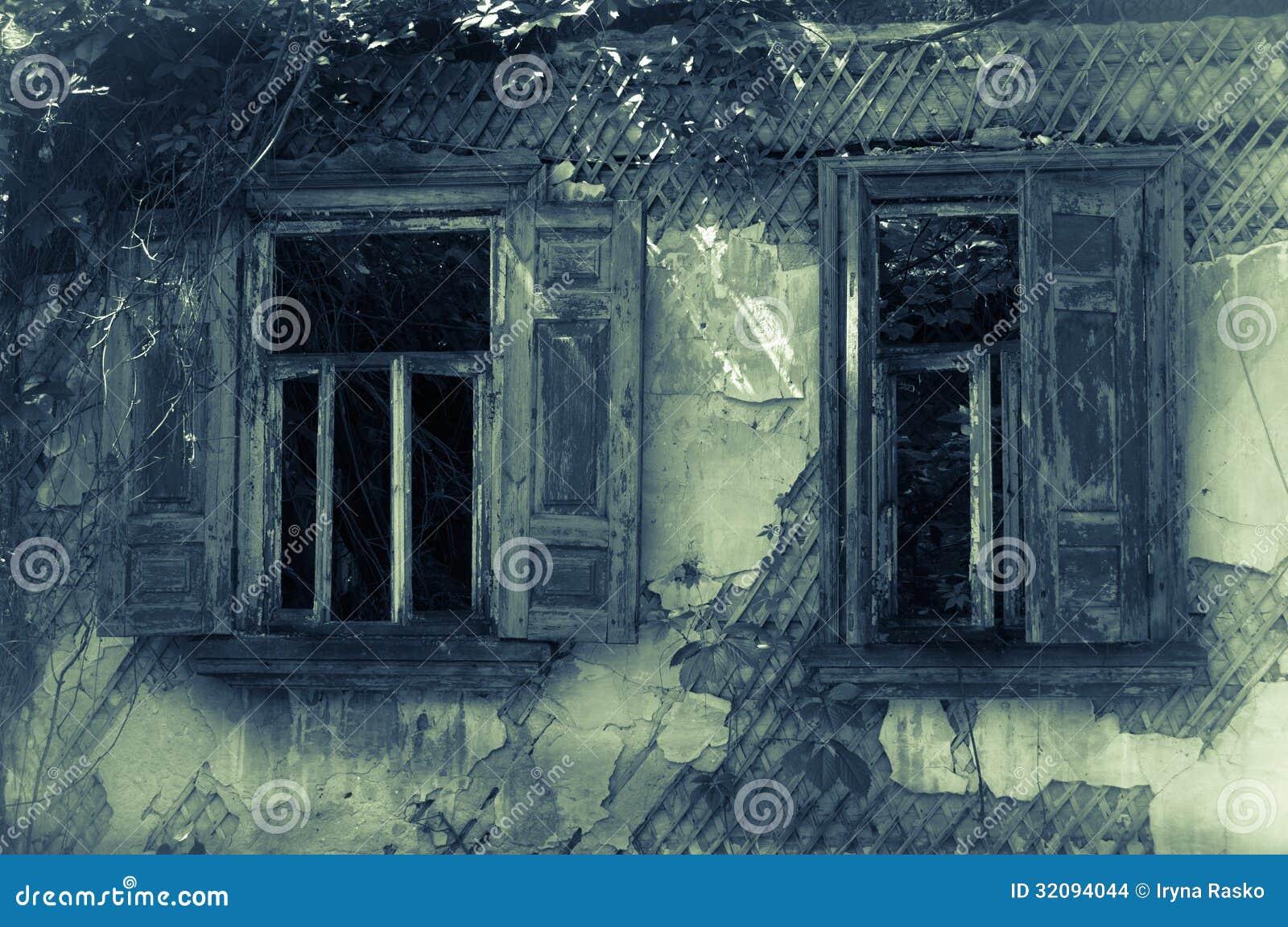 vieilles fen tres abandonn es de maison photo stock image 32094044. Black Bedroom Furniture Sets. Home Design Ideas