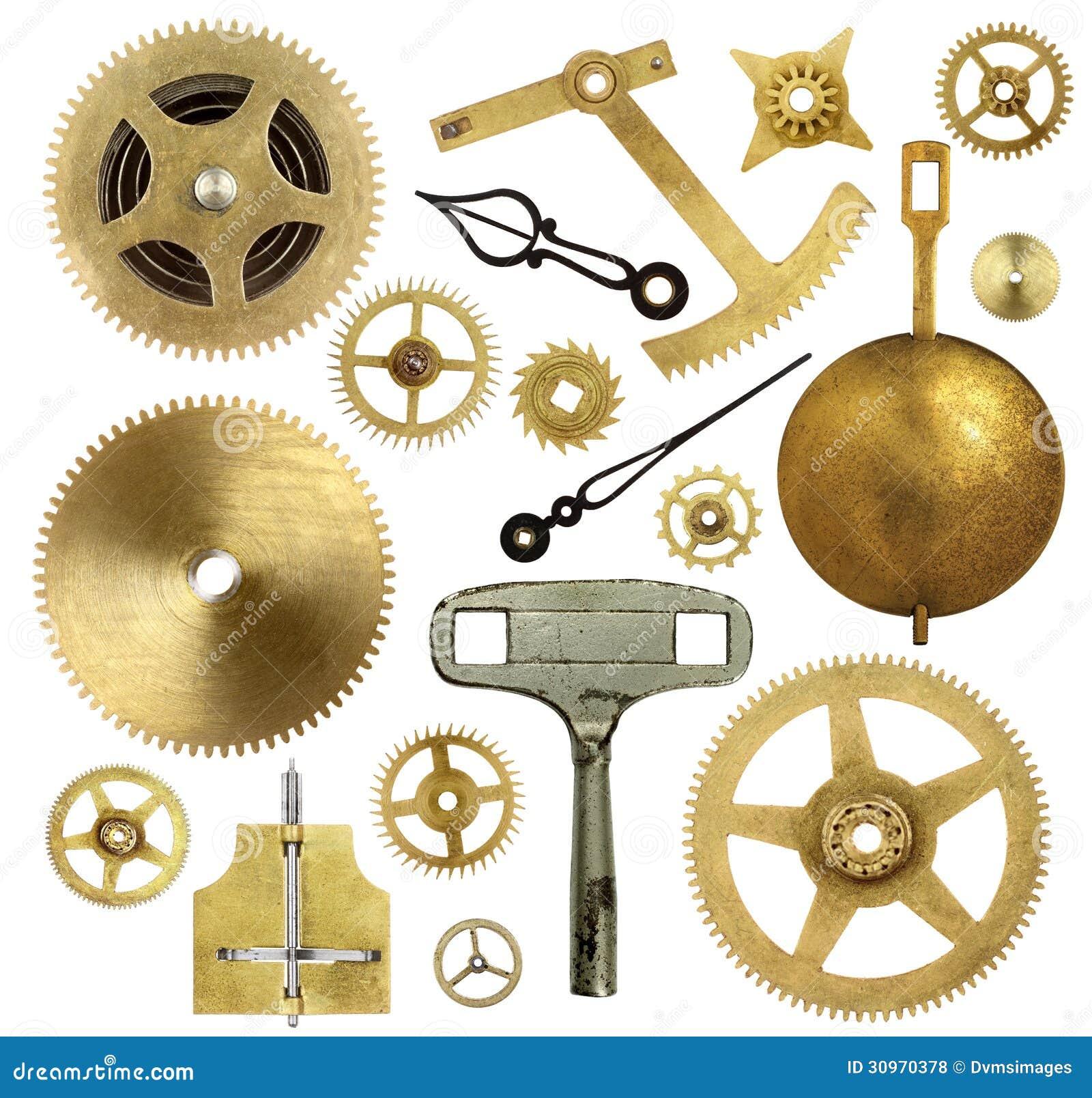 Vieilles Pi 232 Ces D Horloge Photo Stock Image Du Cogwheels