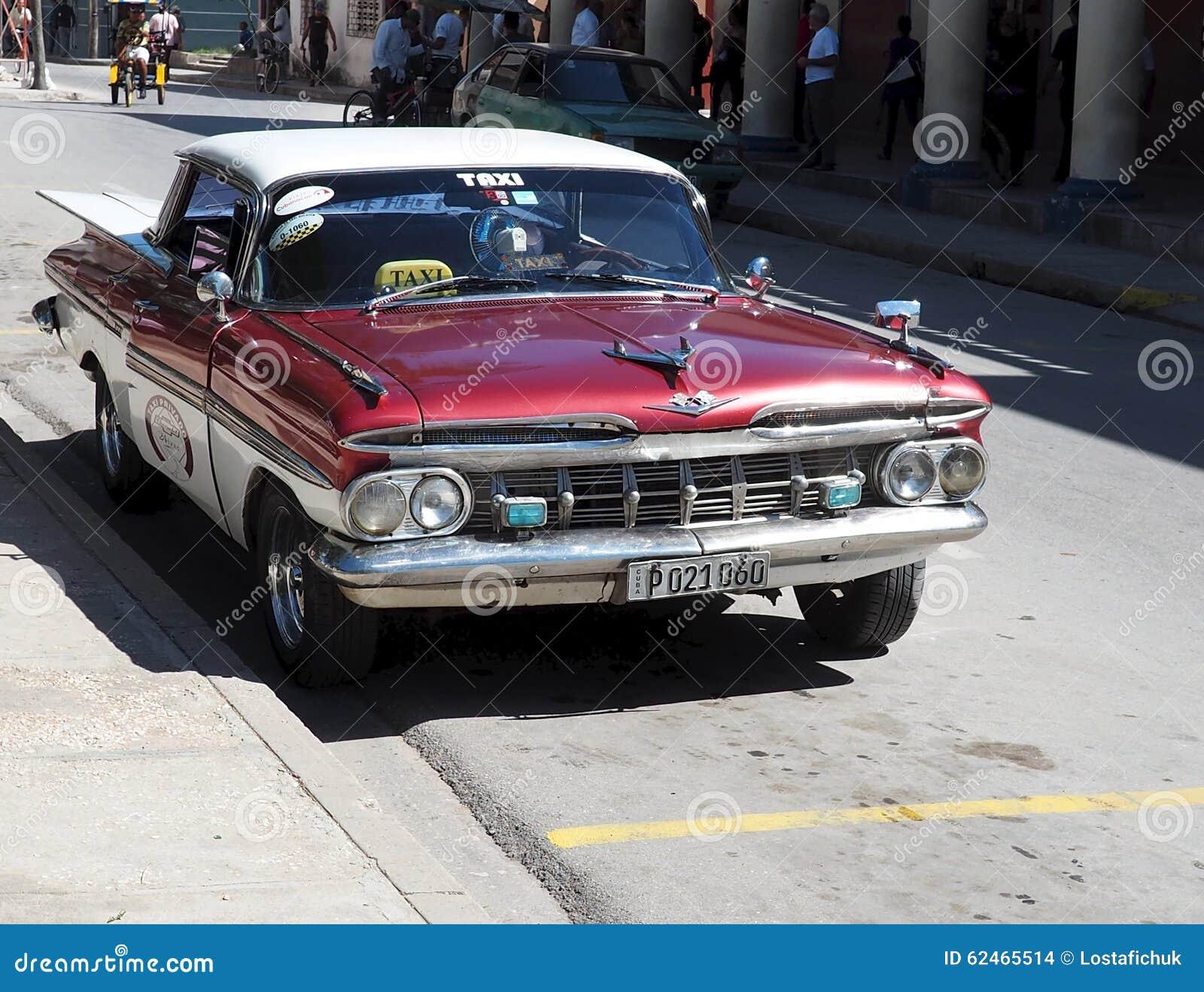 vieilles voitures am ricaines au cuba image stock ditorial image 62465514. Black Bedroom Furniture Sets. Home Design Ideas
