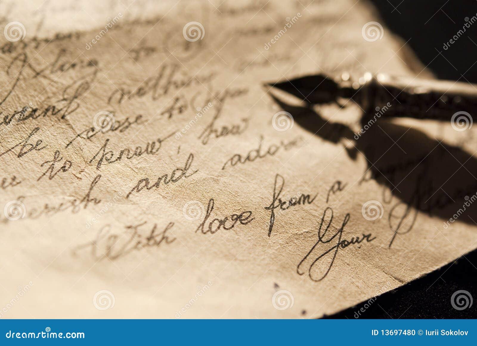 Vieja carta de amor