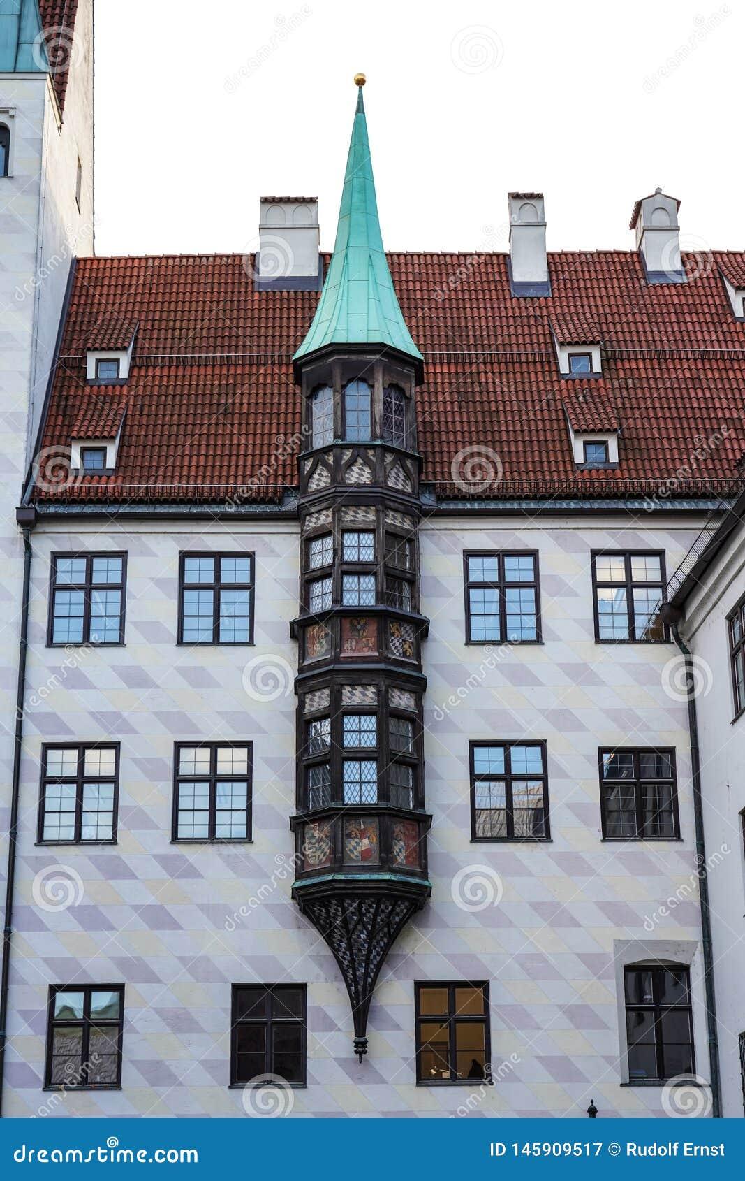 Vieja corte en Munich, Alemania Residencia anterior de Louis IV