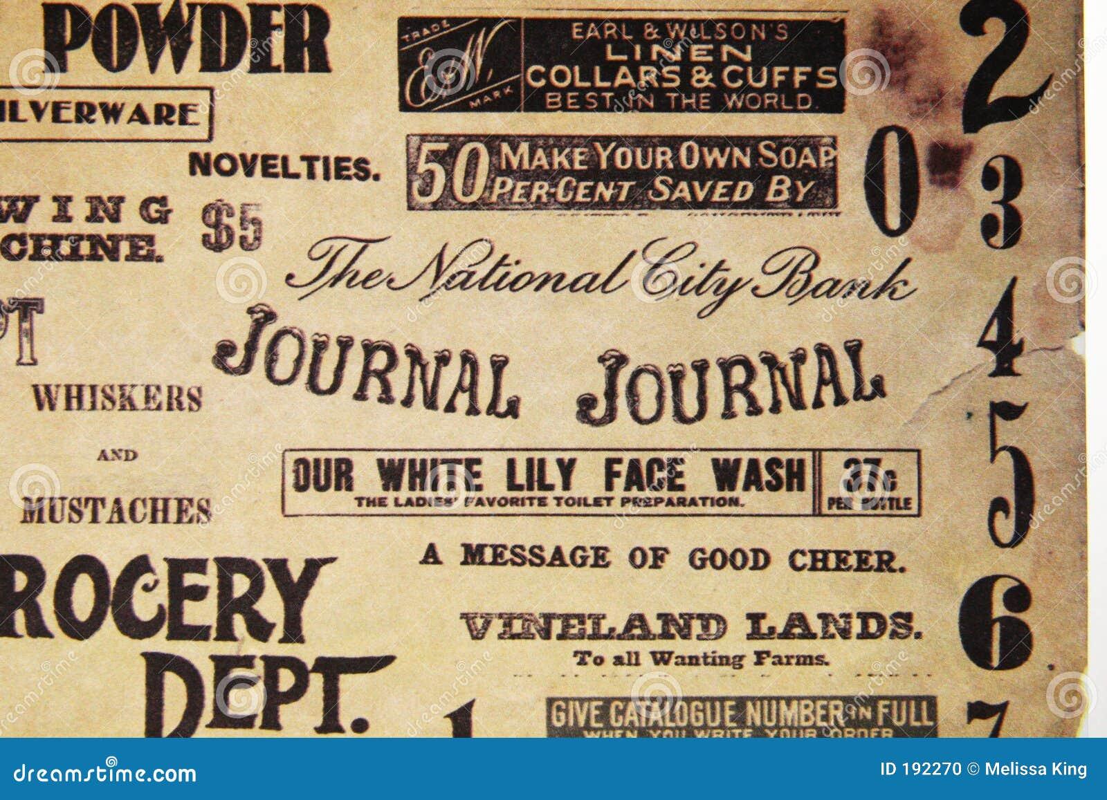 Vieja escritura en el papel