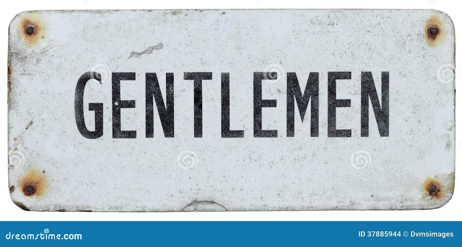 Vieja muestra de los caballeros