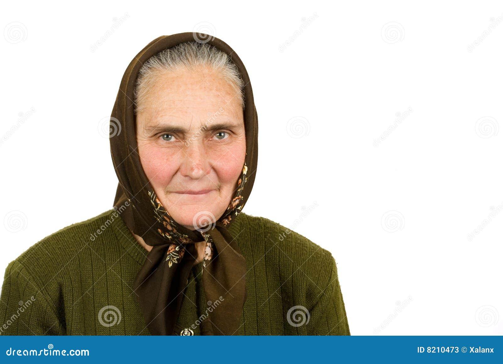 Vieja mujer campesina