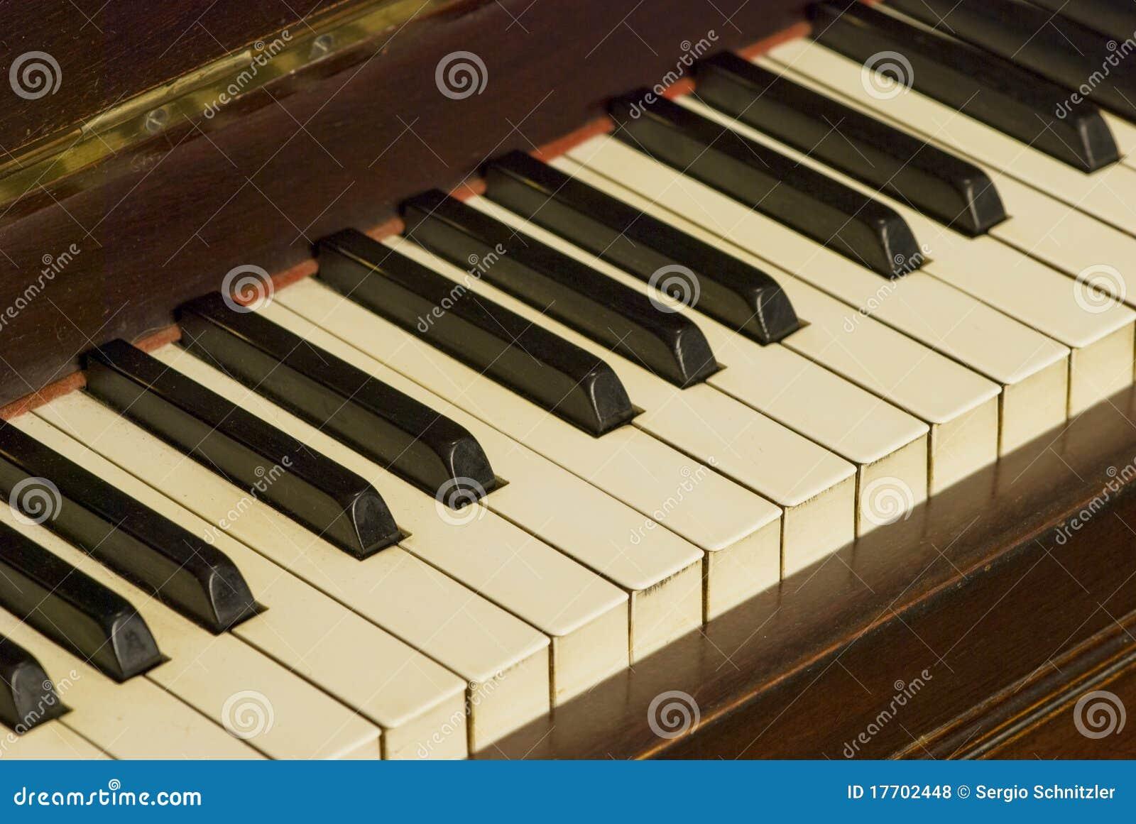 Vieja opinión de la inclinación del teclado de piano