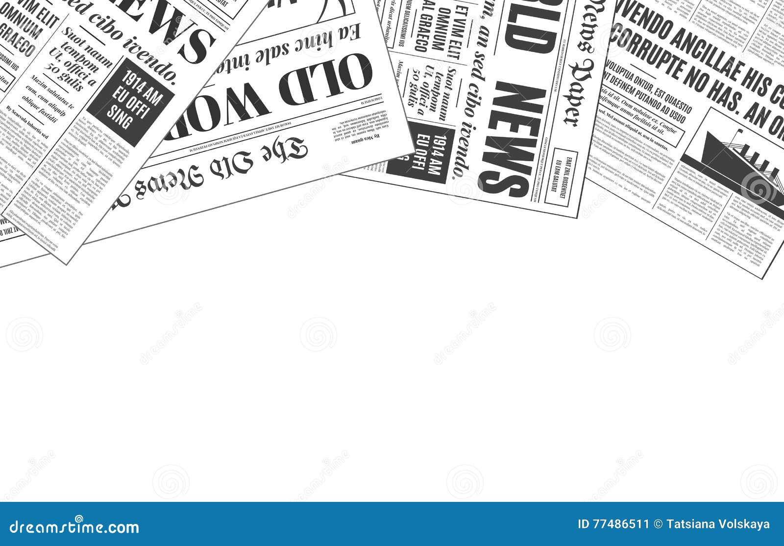 Vieja Plantilla Blanca Del Vector Del Diseño Del Periódico Con El ...