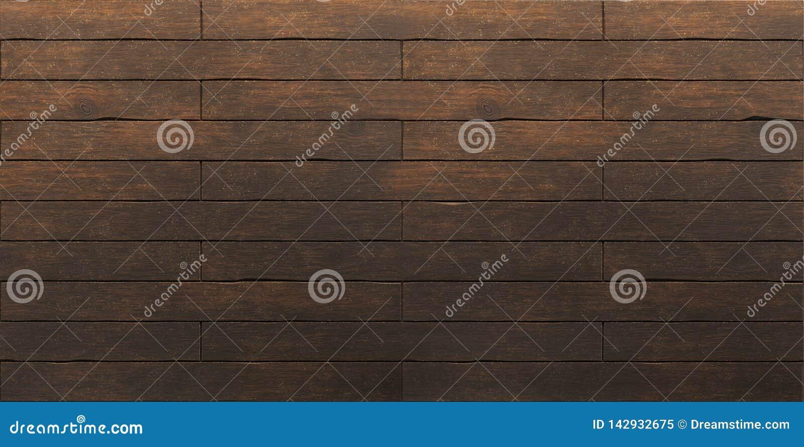 Vieja textura de madera marrón oscura de los tablones
