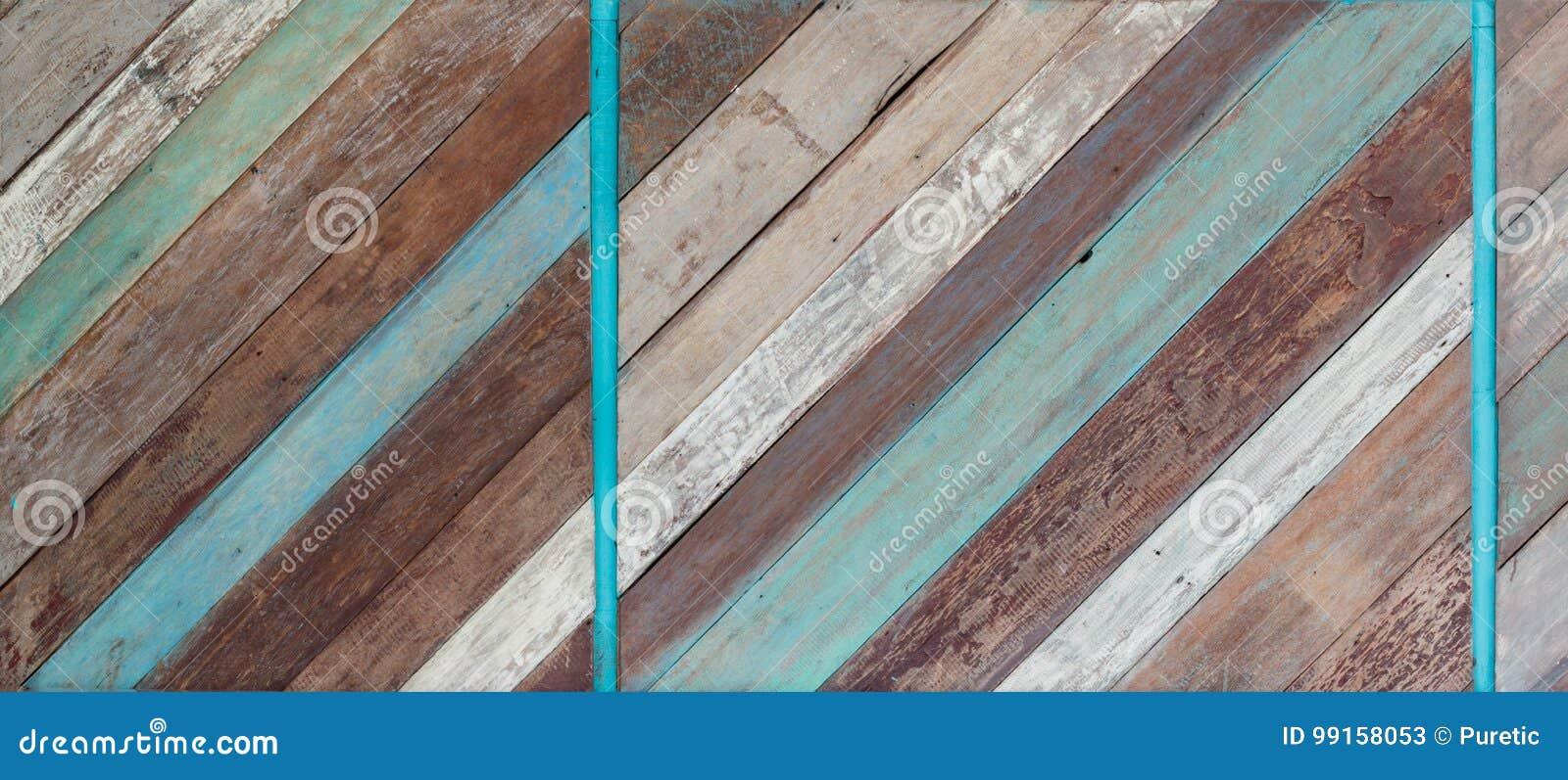 Vieja textura de madera pintada del fondo