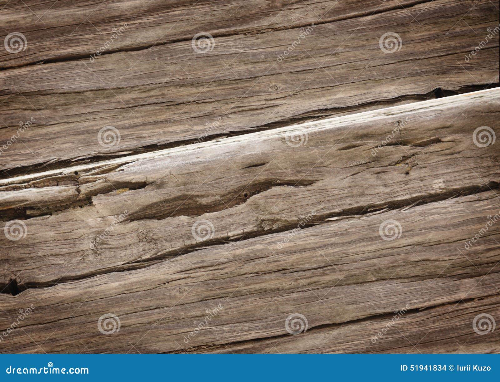 Vieja textura de madera rica del grano