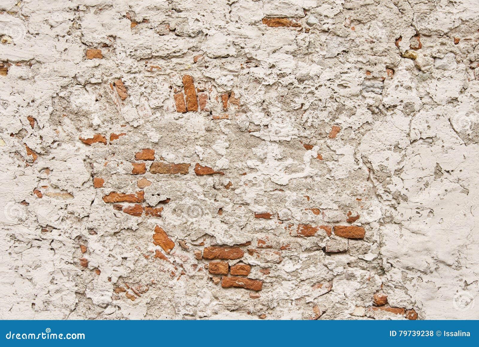 Vieja textura pintada del fondo de la pared de ladrillo