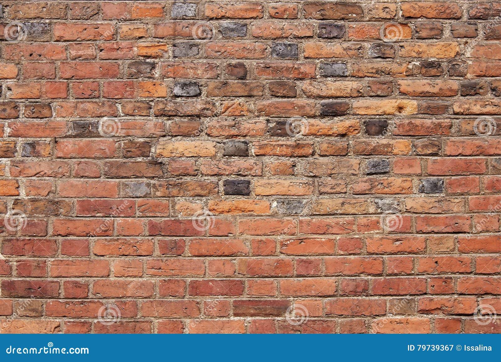 Vieja textura roja del fondo de la pared de ladrillo